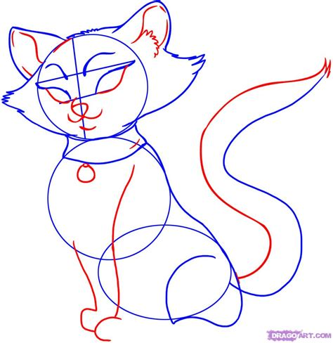 cat step step draw a cat step by step drawing sheets added by