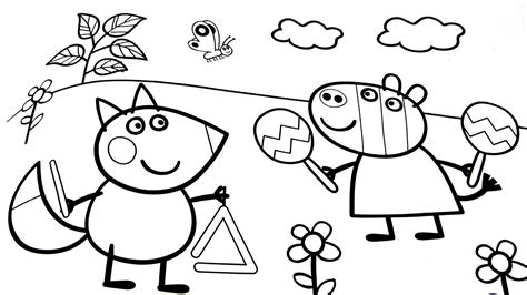 peppa pig and friends coloring pages funny cartoon peppa pig coloring pages womanmate com