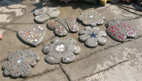 Handmade Stepping Stones - from the summer s garden hypertufa studio of the