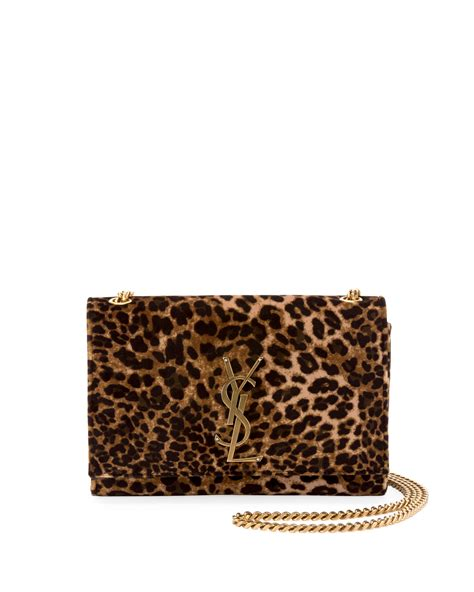saint laurent kate monogram ysl small leopard print velvet