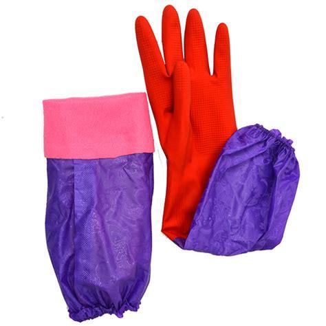 Clean Sleeve Wash 2x wash cleaning sleeve rubber gloves kitchen bath dish washing uk ebay