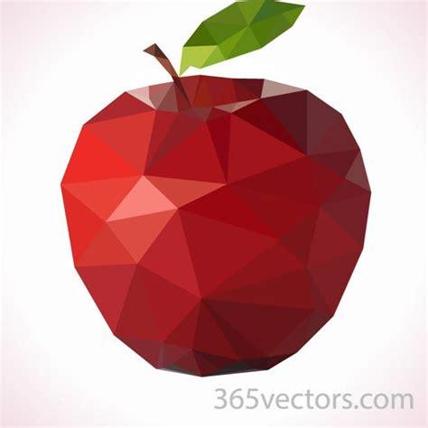 polygonal apple vector art download at vectorportal