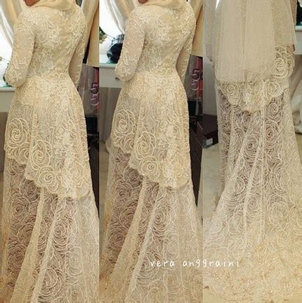 model kebaya putih muslim terbaru untuk akad 2014 10 contoh baju muslim model kebaya modern terbaik