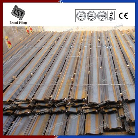 sheet pile sections steel sheet piling z section sheet piles china hot
