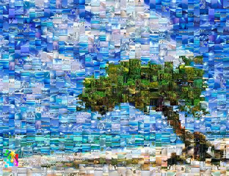 How To Make A Paper Mosaic Collage - click to enlarge