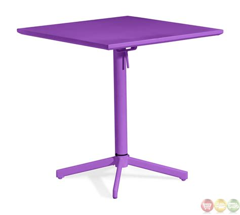 modern folding table big wave purple square folding table zuo modern 703041