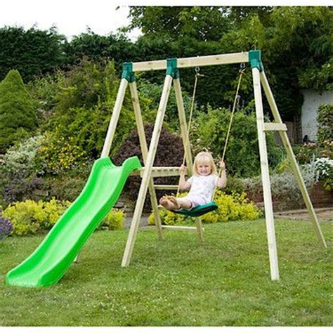 swing with slide a frame swing set with slide woodworking projects plans