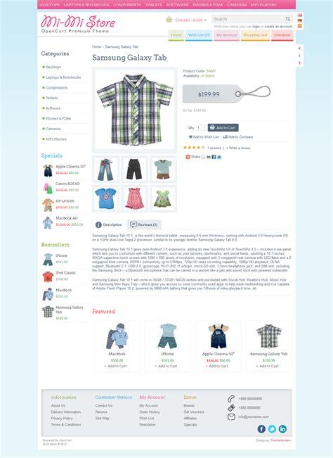 mi themes store mi mi store opencart premium theme by themetorium