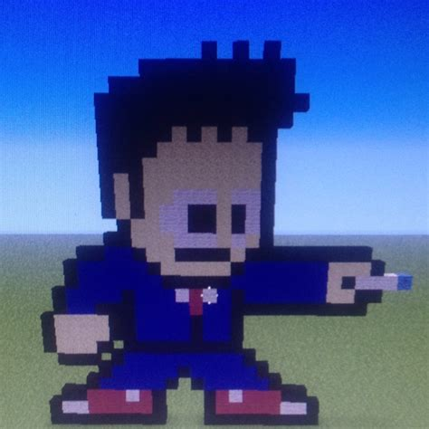 10th Doctor Pixel Art Minecraft | pixel art of the 10th doctor in minecraft minecraft