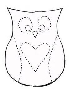 Owl Paper Craft Template - dan faires owl pillow template crafts