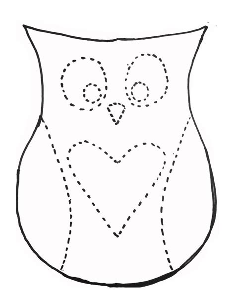 owl pattern worksheet dan faires owl pillow template crafts pinterest