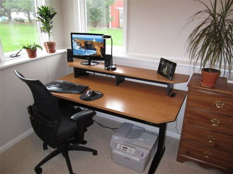 adjustable desks for standing or sitting how i made my adjustable height standing desk optimwise