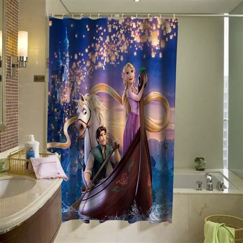 tangled bathrooms disney tangled rapunzel shower curtain from kathlene