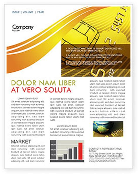 Credit Card Newsletter Bank Credit Card Letterhead Template Layout For Microsoft Word Adobe Illustrator And Other