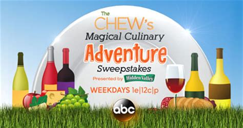 Abc Sweepstakes - abc the chew s magical culinary adventure sweepstakes sun sweeps