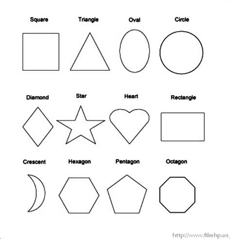 Shapes Color Pages basic shapes coloring pages for preschool coloring pages