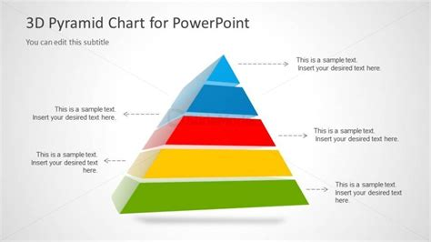 pyramid powerpoint template 3d segmented pyramid chart with 5 steps slidemodel