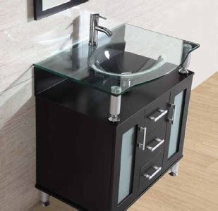 31 5 quot bathroom cabinet solid wood clear glass vessel sink