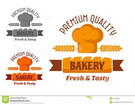 yellow bakery brown and yellow bakery emblem stock vector image 57468983