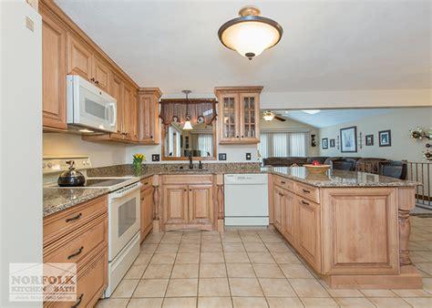 Tewksbury kitchen remodel with Maple cabinets   walnut glaze