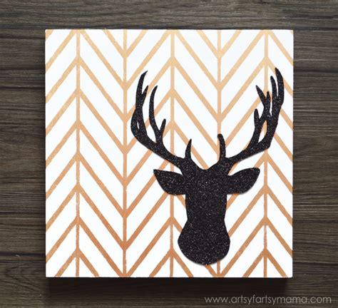 reindeer printable wall art diy glitter reindeer art artsy fartsy mama