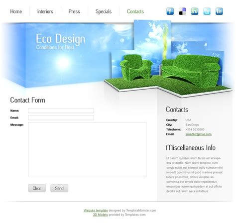 Free Furniture Website Template Furniture Website Templates Free