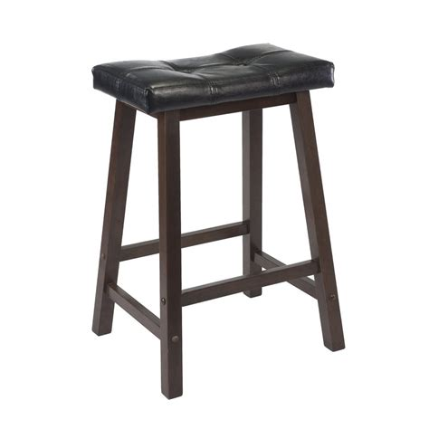 24 Inch Bar Stool Shop Winsome Wood Antique Walnut 24 In Counter Stool At Lowes