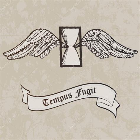 tempus fugit tattoo tempus fugit passing time symbol hourglass