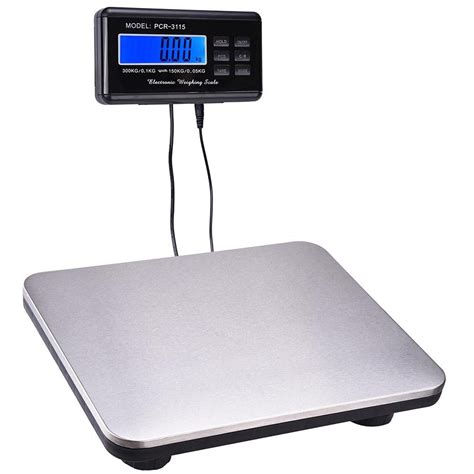 digital bench scales 660lbs lcd ac digital floor bench scale postal platform shipping 300kg weigh ebay