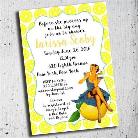 lemon themed wedding invitations bridal shower invitation lemon theme invitation pin up