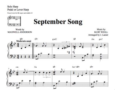 skye boat song noten kostenlos september song for lever harp janet lanier