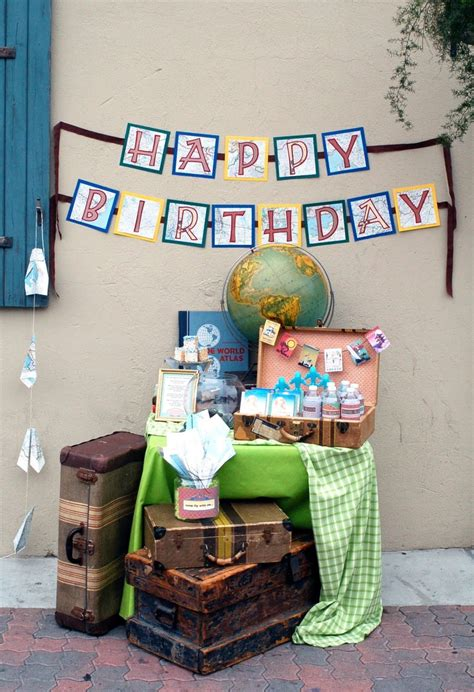 travel themed party ideas images  pinterest