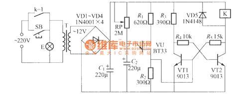 data transistor fcs 9013 使用继电器的延迟灯电路 4 灯光控制 捷配电子市场网