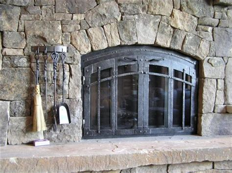 custom iron fireplace doors gas logs fireglass glass doors colorado comfort