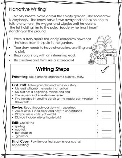 pattern of writing project scarecrow activity genre writing project aligned to 2nd