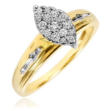 1 5 carat t w engagement ring 10k yellow