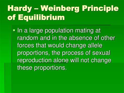 hardy weinberg principle ppt hardy weinberg equilibrium powerpoint presentation