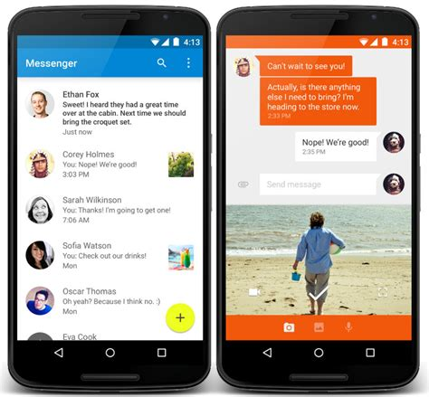 messenger for android messenger app for android a standalone impressive app by