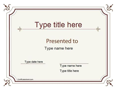 Joke Card Templates by Blank Certificate Excellence Award Certificate