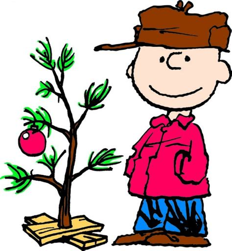 charlie brown and christmas tree by charles m schulz