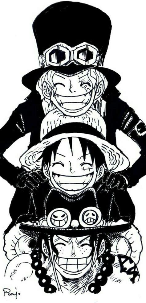 one piece sabo tattoo ace sabo luffy pile brothers one piece one piece