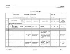 inspection test plan template understanding about inspection and test plan itp