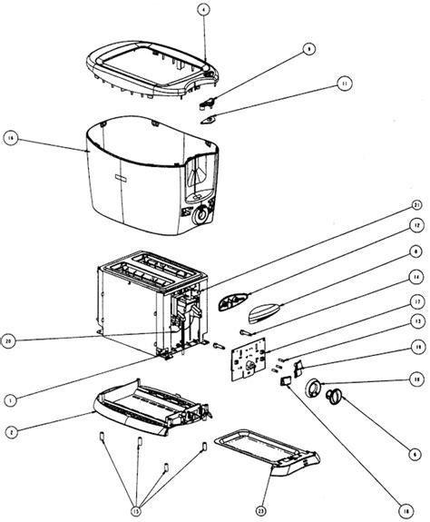 Sunbeam Toaster Parts Sunbeam 6223 Parts List And Diagram Ereplacementparts Com