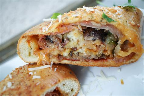 best stromboli recipe quot the works quot pizza stromboli the chunky chef