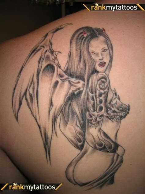 devil girl tattoo designs and ideas