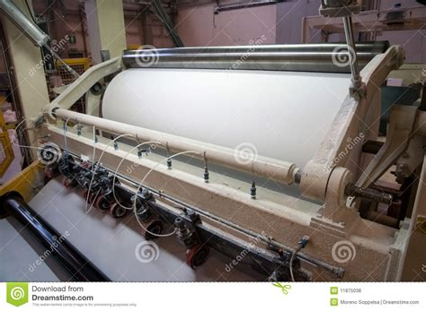 paper and pulp mill stock paper and pulp mill fourdrinier machine royalty free stock photos image 11875038