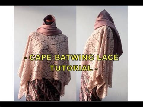 Batwing Brukat how to sew cape batwing lace brokat tutorial