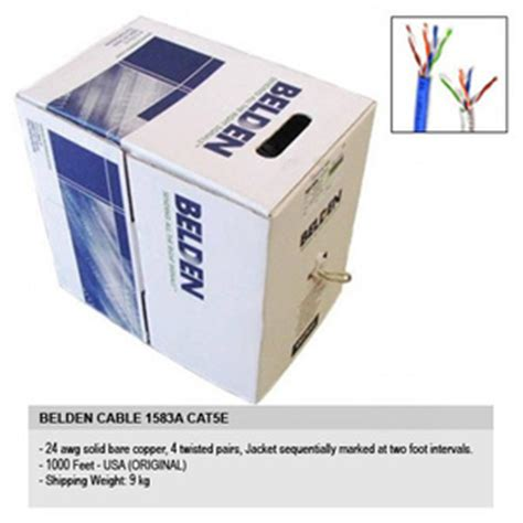 Kabel Lan 3m Cat 5e 1 Roll 305 Meter Grey Dan Blue Berkualitas jual kabel lan belden utp cable cat 5e usa 1 roll 305 meter deethoven shop
