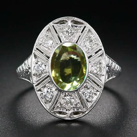 Cincin Permata Zircon 2 model cincin wanita dengan batu permata zircon hijau
