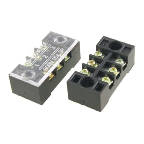 2 X 3 Set Of 5 Pieces Set Electric Wire 2 X 3 Terminal Barrier Block Connector 600v 15a Ebay